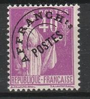 FRANCE PREO 1922-47 YT N° 70 ** - 1893-1947