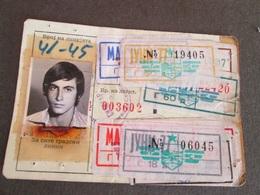 STUDENTS TRANSPORTATION SEASON TICKET 1976/77, MACEDONIA - Abbonamenti
