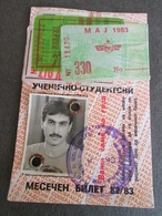 STUDENTS TRANSPORTATION SEASON TICKET 1983, MACEDONIA - Abbonamenti