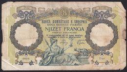 20 Francs, 1939 Albania - Albanie