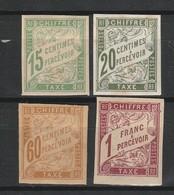 FRANCE COLONIES GENERALES TAXES 1893-1908 YT N° 20, 21, 24 Et 26 * - Impuestos