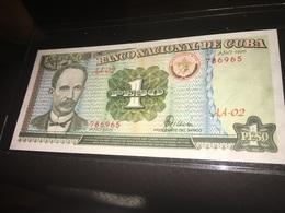 See Photos. Cuba Banknote 1995 Jose Marti 1 Peso GEM UNC - Cuba