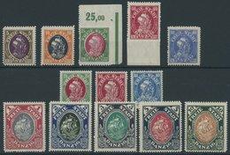 FREIE STADT DANZIG 53-65 **, 1921, Kogge, 2 Postfrische Prachtsätze, Mi. 145.- - Dantzig