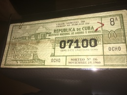 See Photographs. CUBA 1965. REVOLUTIONARY LOTTERY. SORTEO 86 - Autres