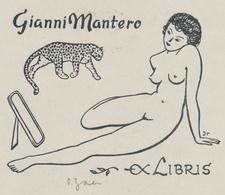 Ex Libris Gianni Mantero - Olaf Jaer Gesigneerd - Ex-libris