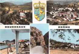 DROME  26  BOURDEAUX - VUES MULTIPLES - BLASON - France