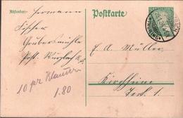 ! 1926 Ganzsache Deutsches Reich, Wurzbach In Thüringen Nach Kirchheim Teck - Germany