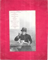 ILLUSTRATEUR BERGERET -  CPA DOS SIMPLE - Grand Hotel De La Patrie - MENU - VIS - - Bergeret