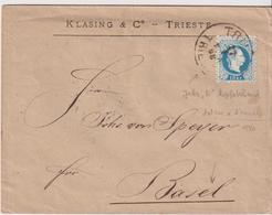 AUTRICHE    AUSTRIA  LETTRE DE TRIESTE POUR BALE  1880 - 1850-1918 Empire