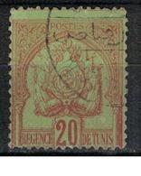 TUNISIE        N°  YVERT  :  15     OBLITERE       ( Ob   5/59  ) - Used Stamps