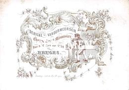 Porceleinkaart  -  Derycke Vandermeersch Charpentier & Ménuisier - Bruges - Brugge - 7.5x10.5 Cm - Brugge