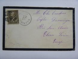 Une Enveloppe De HASTING Pour Diemeringen Près Sarr-Union (Prusse) 1883, Timbre 5c Brun Noir - Garfield (YT62) - 1847-99 Unionsausgaben