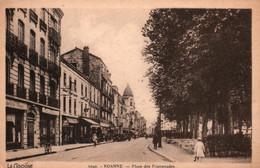 Roanne (Loire) Place Des Promenades - Edition La Cigogne - Carte Sépia N° 5042 - Roanne