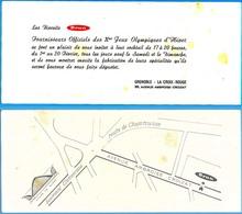 Biscuits BRUN Fournisseur Officiel X° Jeux Olympiques D'Hiver De Grenoble 1968 Olympic Games 68 Invitation Cocktail - Jeux Olympiques