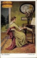 Artiste Cp Mailick, Ein Liebeslied, Frau Am Klavier - Illustrateurs & Photographes
