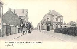 Hamme - Rue De La Station - Statiestraat (animatie, Bertels 1908) - Hamme