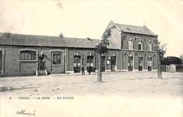 Hamme - La Gare - De Statie (animatie, Bertels 1906) - Hamme