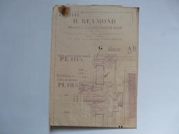 VIEUX PAPIERS - PLANS : Appareils Asservis Système BAULE ( SOUS-MARIN) - H. REYMOND - Tools