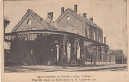 1914-18 / OORLOG / GUERRE / SCHAFFEN / STATION / LA GARE - War 1914-18