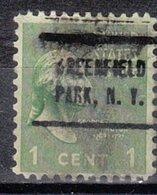 USA Precancel Vorausentwertung Preo, Locals New York, Greenfield Park 714 - Vereinigte Staaten