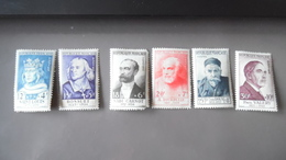 Série Paul Valéry 1954 N°989 - 994  Neuf Avec Rouille - France