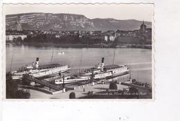 CPA PHOTO GENEVE,PROMENADE DU MONT BLANC ET LA RADE En  1962! (voir Timbre) - GE Genève