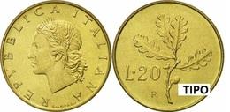 REPUBBLICA ITALIANA 20 LIRE  Bronzital Qualità FDC - Anno 1971 - 20 Lire