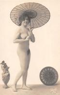 ¤¤   -   Femme  Nue Avec Une Ombrelle    -  Femme Aux Seins Nus  -   ¤¤ - South, East, West Africa