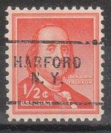 USA Precancel Vorausentwertung Preo, Locals New York, Harford 703 - Vereinigte Staaten