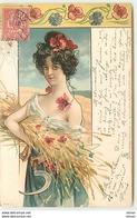N°12451 - Art Nouveau - Jeune Femme Ayant Coupé Du Blé - Coquelicot - Femmes
