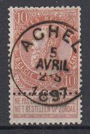 BELGIË - OPB - 1893/1900 - Nr 57 - TO  (ACHEL) + COBA 8 € - 1893-1800 Fijne Baard
