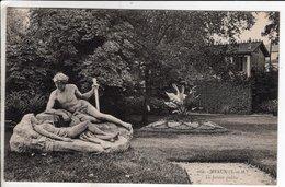 Cpa Meaux Le Jardin Public - Meaux