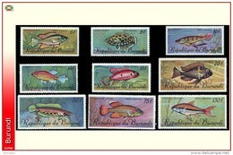 Burundi PA 0062/70 **  Poissons MNH - 1962-69: Neufs