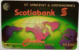 142CSVB EC$10 Yellow Tube Sponge Small Control Number - St. Vincent & The Grenadines