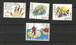 Islande N°750 à 752, 754 Cote 4.25 Euros - Used Stamps