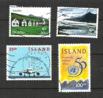 Islande N°779, 780, 783, 786 Cote 5.25 Euros - Used Stamps