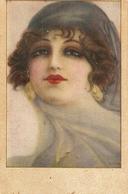 """Pretty Lady"" Nice Vintage Spanish Postcard - Mujeres"