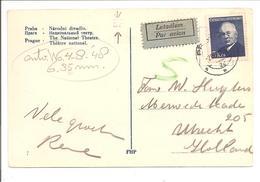 Postcard Praha 20.7.48 Letadlem + TRANSORMA BF - Tschechoslowakei/CSSR