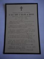 Vosges - Saint-Die  - Image Pieuse - Deces De Marie-Isabelle De Bazelaire De Ruppiere L - Devotion Images