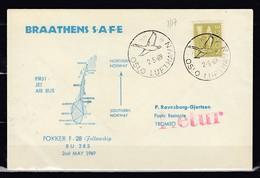 Brief Van Braathens Safe Van Oslo Lufthavn Naar Tromso - Brieven En Documenten