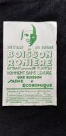 BUVARD Illustration Tête EAU DU SUCRE BOISSON RONIERE HERBORISTERIES PHARMACIES Fabriquant PARIS - Lebensmittel