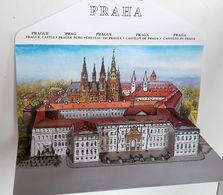 Carte à SYSTEME POP UP  - PRAHA - PRAGUE Illustrée Par V. KUBASTA   - CHATEAU DE PRAGUE - PRAGUE CASTLE  (4) - Mechanical