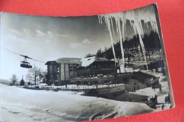 Rieti Terminillo Stazione Della Funivia 1953 + Francobollo Quasi Tutto Mancante - Rieti