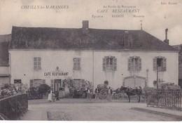 CHEILLY LES MARANGES 71 CAFE RESTAURANT AU RAISIN DE BOURGOGNE ROIZOT ATTELAGE BELLE CARTE ANIMEE TRES RARE !!! - Other Municipalities