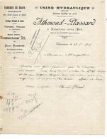 Facture 1905 / 71 VARENNES SOUS DUN / LA CLAYETTE / ATHENOUD-PLASSARD / Fabrique De Draps, Teintures Apprêts - 1900 – 1949