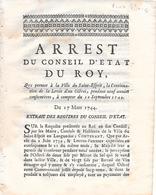 PONT SAINT ESPRIT ( 30 ) - Levée D'Octroi - Arrêt En Date Du 2 Juin 1739 - Pont-Saint-Esprit