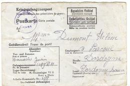 FRANCE 1943: CP De Prisonnier De Guerre En Franchise - Non Classés