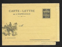 Carte Lettre Franchise Militaire Neuve . ( Dentelure Légèrement Abimée Bas Droit ) - Cartes De Franchise Militaire
