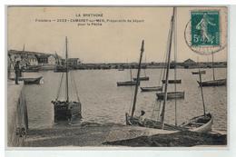 29 CAMARET SUR MER PREPARATIFS DE DEPART POUR LA PECHE - Camaret-sur-Mer