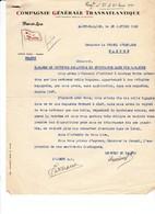 Correspondance 1937 Guerre D' Espagne Consulat Nantes  CGM Réfugiés Espagnols Bagages Souffrance 2 Pages - Documentos Históricos